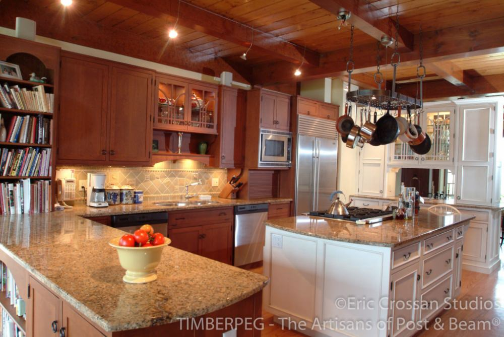 Mismatched Cabinets Timberpeg Timber Frame Post And Beam