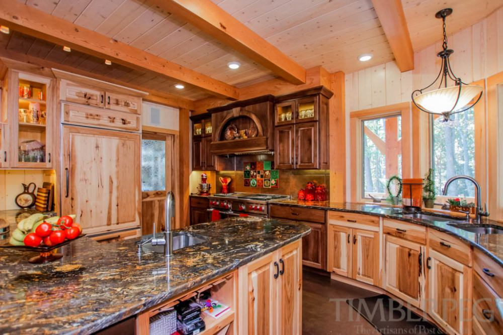 Mismatched Cabinets | Timberpeg Timber Frame | Post and Beam