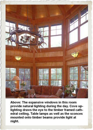 Ceiling up lighting Suspended Indirect Strip Lighting Using Fluorescent T8 Or T5 Lamps Is Particularly Energy Efficient And Can Gain Credits For Energy Conservation Timberpeg Lighting Timber Frame Home Timberpeg Timber Frame Post And