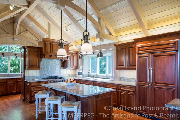 Open Kitchen Cabinets No Doors cabinets | timberpeg timber frame | post and beam
