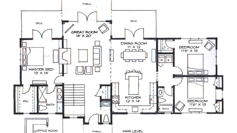 Cove Creek One Level Floor Plan