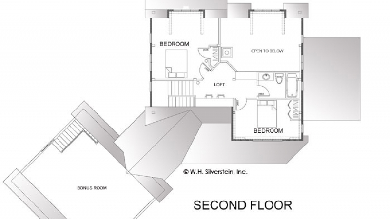 The Donner Lodge-Second Floor Plan