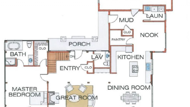 The Grand Lake (5609)- First Floor Plan
