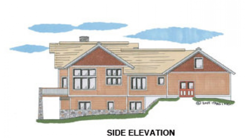 The Grand Lake (5609)- Side Elevation