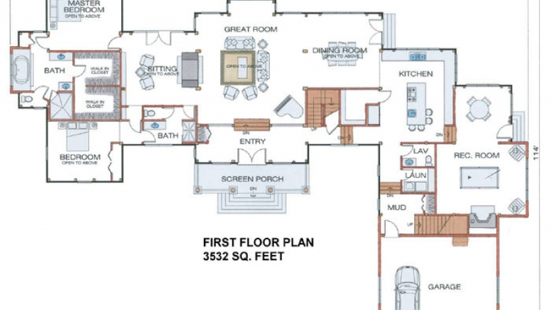 The Knoxville(#5729)-First Floor Plan