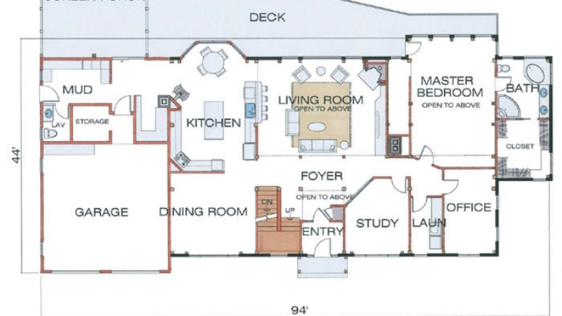 The Laconia (5944)-First Floor Plan