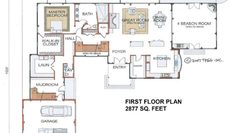 The Londonderry (#5328) - First Floor Plan