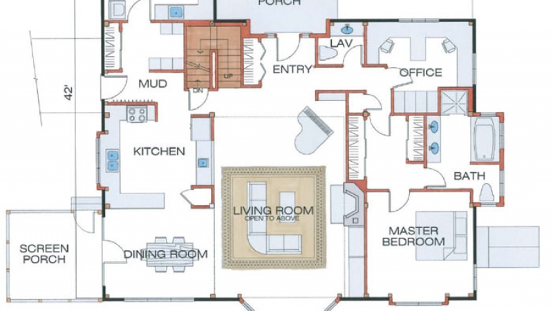 The Lyme(#5709)-First Floor Plan