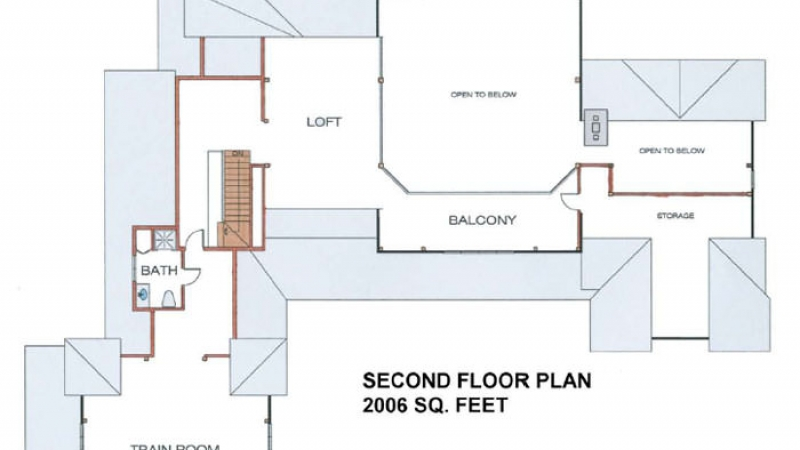 The Sunset(5648)- Second Floor Plan