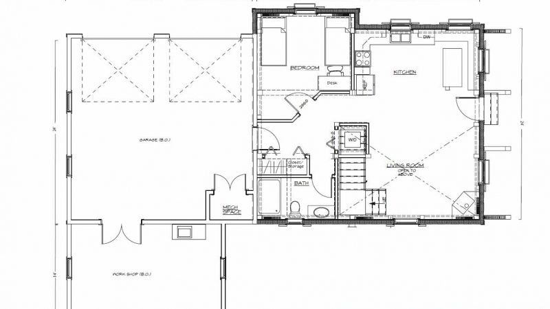Hamilton, VA Guest House (T00995) First Floor Plan