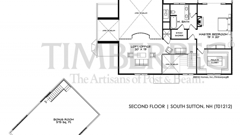 South Sutton, NH Second Floor Plan (T01212)