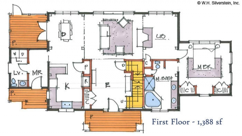 The Cobb Meadow (T00450)- First Floor Plan