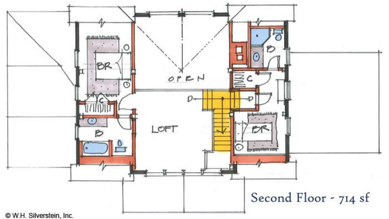 The Cobb Meadow (T00450)-Second Floor Plan