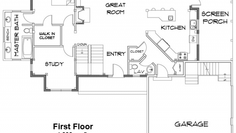The Harvest Hollow- First Floor Plan