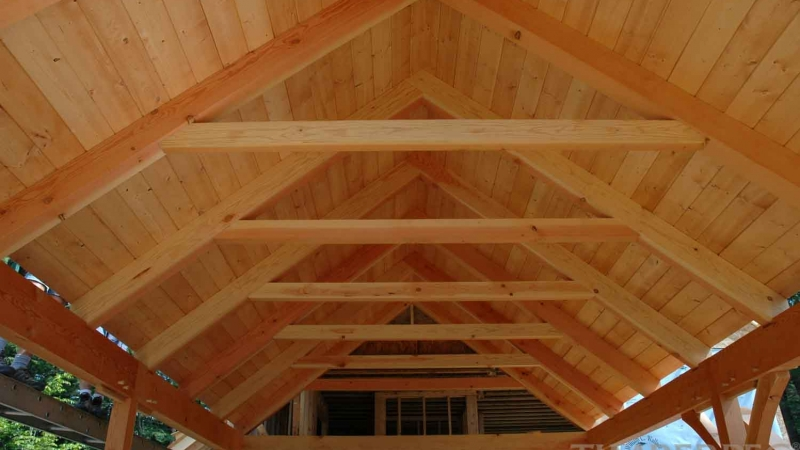 Collar Tie Truss Timberpeg Timber Frame Post And Beam