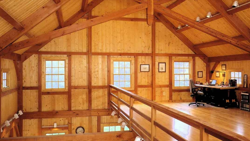 Scissor Truss Timberpeg Timber Frame Post And Beam Homes