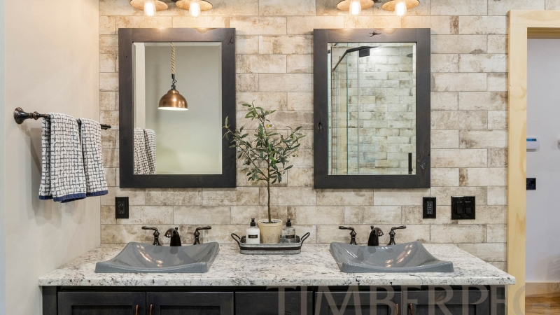 Ludlow, Vermont Ski Home | Okemo Mountain (T01058) | Amy Michaud, Bathroom Design