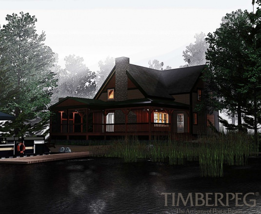 The Linville (T00415) Floor Plan | Timberpeg Post and Beam ...