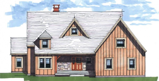 The Harvest Hollow Floor Plan | Timberpeg Post and Beam Homes