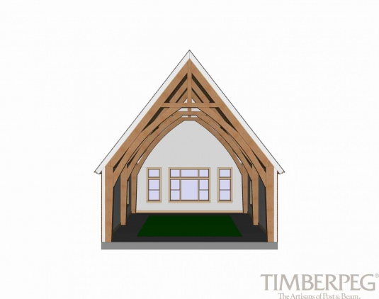 Timberpeg Timber Frame | Cruck Truss | Post and Beam Homes