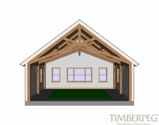 Timberpeg Timber Frame | Scissor Trusses | Post and Beam Homes