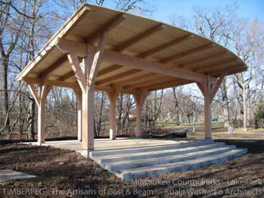 Lake Park Friends Bandstand Wi T00660 Timberpeg Post