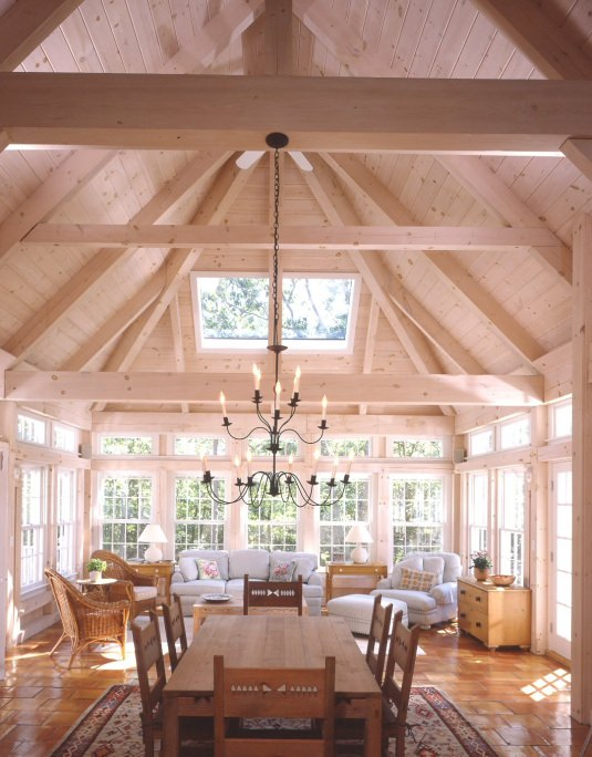 Timberpeg timber frame great room addition 4390 post Great room additions
