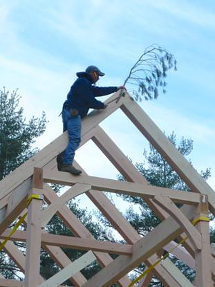 The Topping Out Ceremony Timberpeg Timber Frame Post