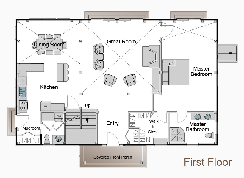 The Chatham Floor Plan Timberpeg Timber Frame Post And Beam Homes