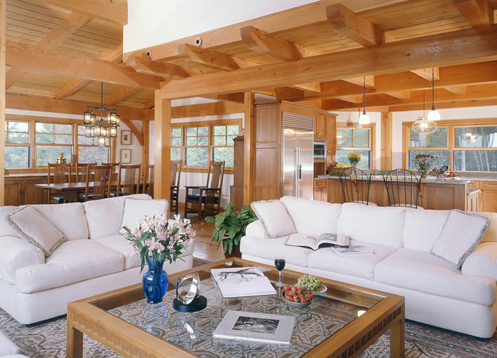 Why now is the perfect time to plan your timber frame for Post and beam living room ideas