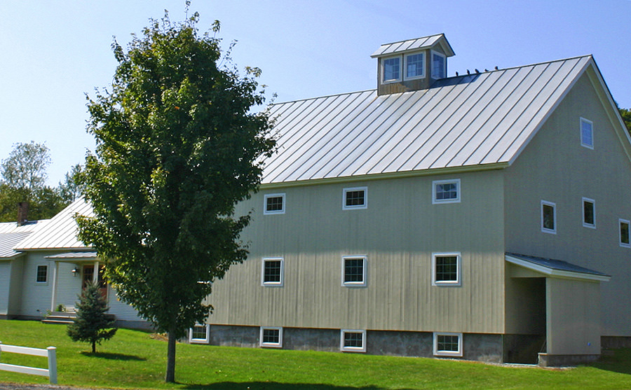 Barn Style Addition With Metal Roof