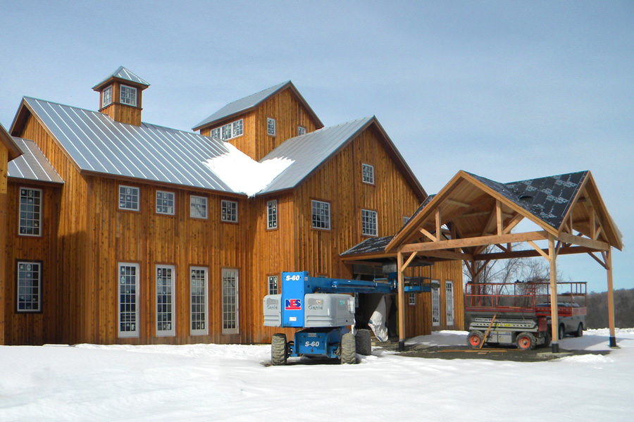Barn Style Winery With Cupola and Board and Batten Siding