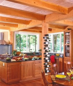 10 ways to make your post beam kitchen uniquely you for Post and beam kitchen ideas