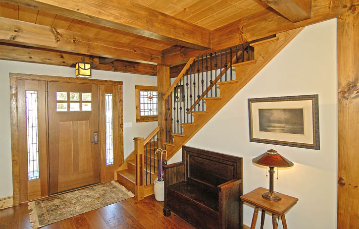 South Carolina Post And Beam Lake Home Is Classic
