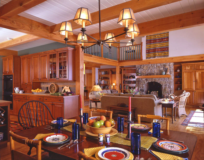 Five tips for home organization timberpeg timber frame for Open concept post and beam house plans