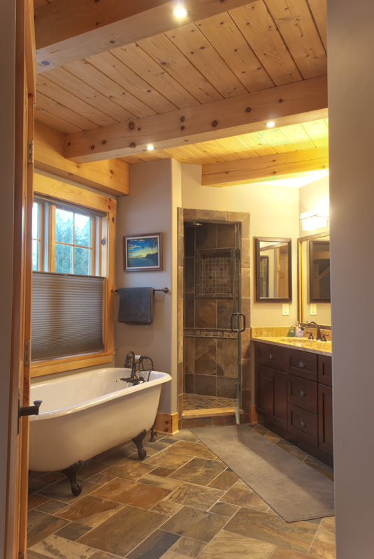 A High Tech Bathroom For Your Barn Home Timberpeg Timber