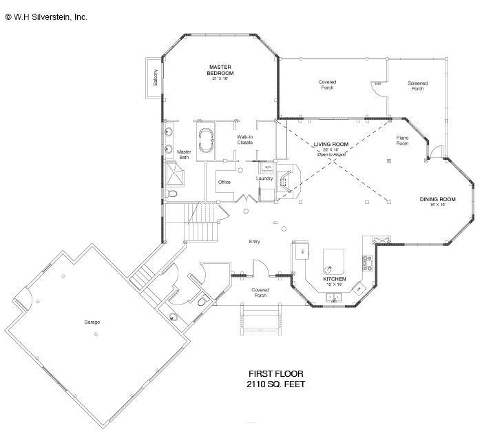 2,890 Square Foot Post And Beam Floor Plan
