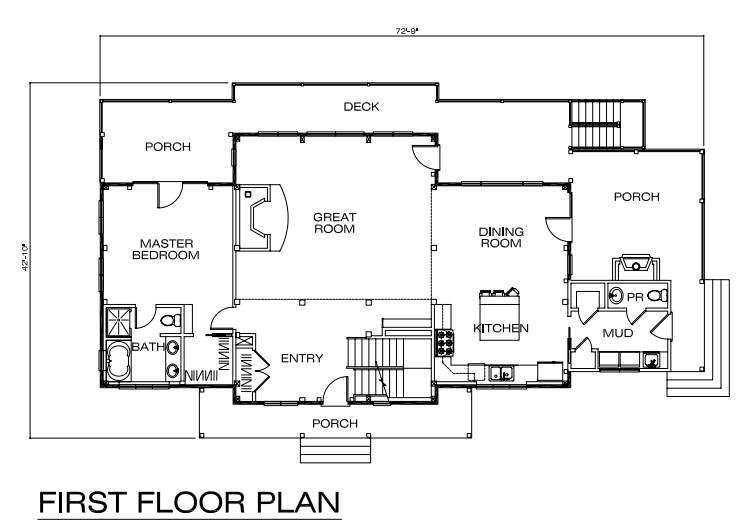 between the entryway and great room we can access the first floor master bedroom this 210 square foot room provides ample room for rest and relaxation - Afton Home Floor Plans
