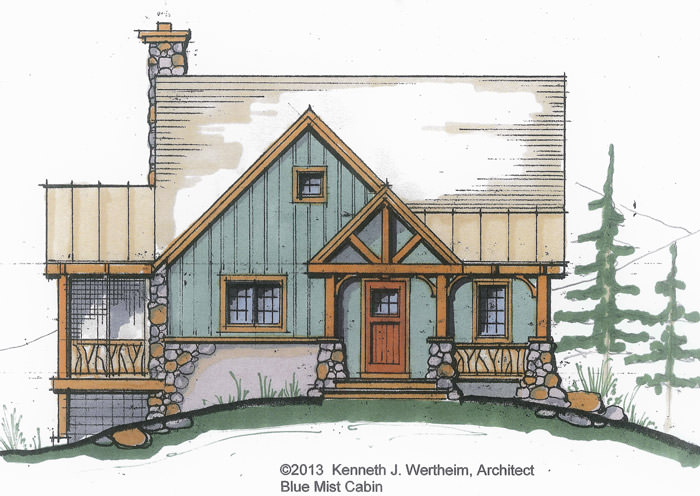 The Blue Mist Cabin A Small Timber Frame Home Plan