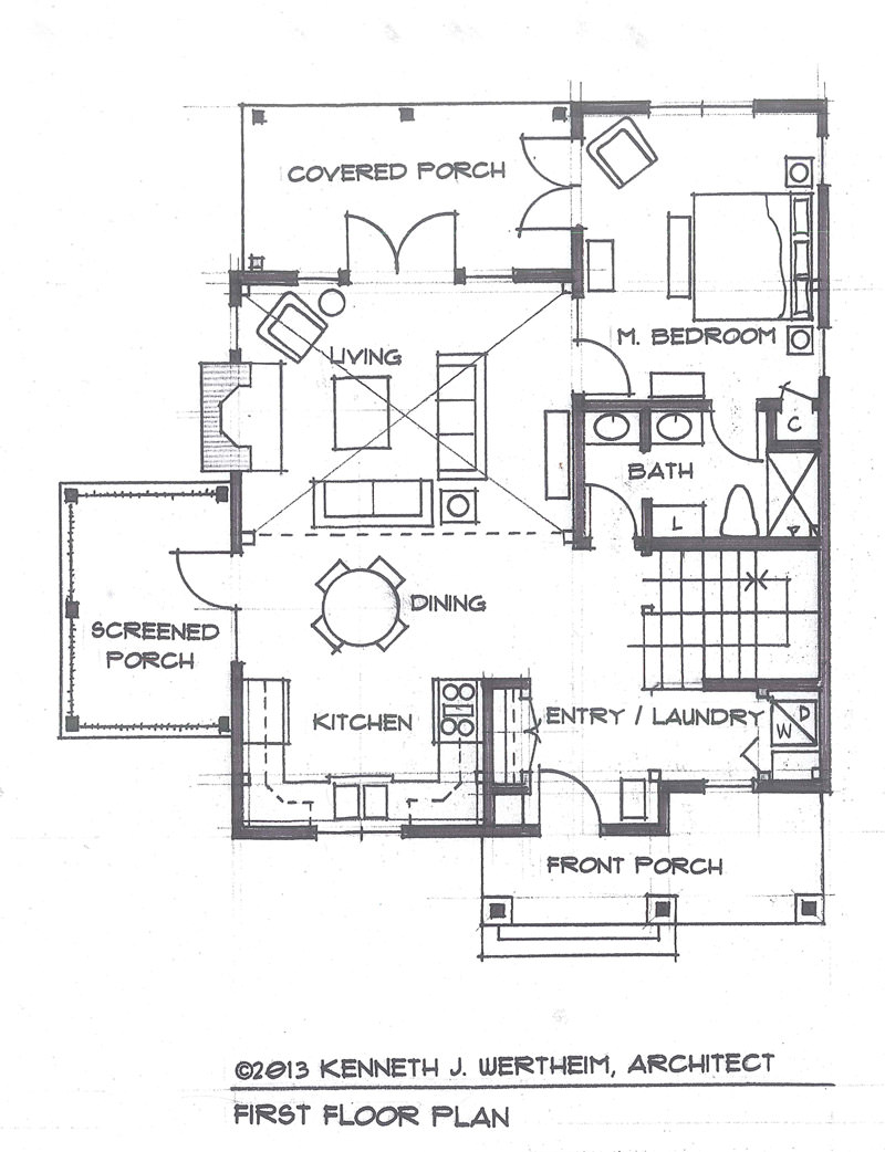 The blue mist cabin a small timber frame home plan for Small timber frame plans